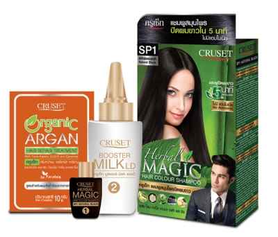 Cruset Herbal Magic Hair Colour Shampoo 15 ml.
