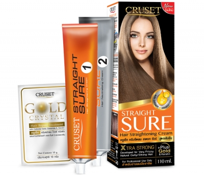 Cruset Straight Sure Hair Straightening Cream 110 ml.