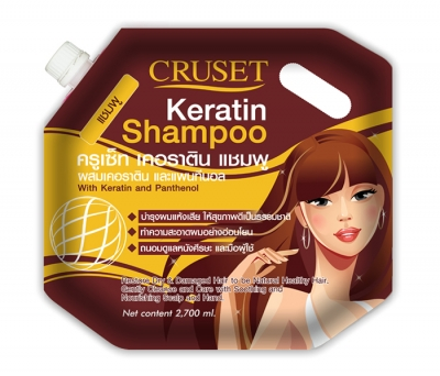 Cruset Keratin Shampoo 2,700 ml.
