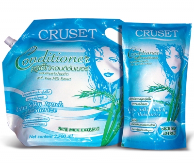 Cruset Conditioner With Rice Milk Extract 1,000 and 2,700 ml.