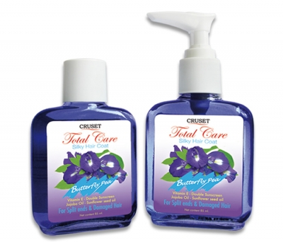 Cruset Total Care Silky Hair Coat (Butterfly Pea) 85 ml.