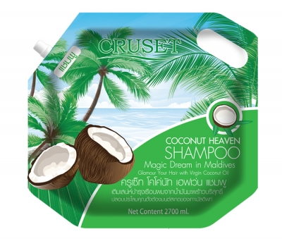 Cruset Coconut Heaven Shampoo 2,700 ml.