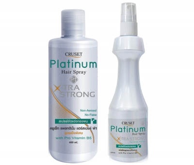 Cruset Platinum Hair Spray X-TRA Strong 220 and 400 ml.
