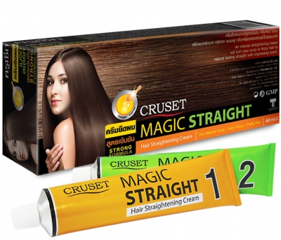 Cruset Magic Straight Hair Straightening Cream 60 ml.