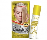 Cruset Hair Bleaching Powder (Glod) with Developer 15 g